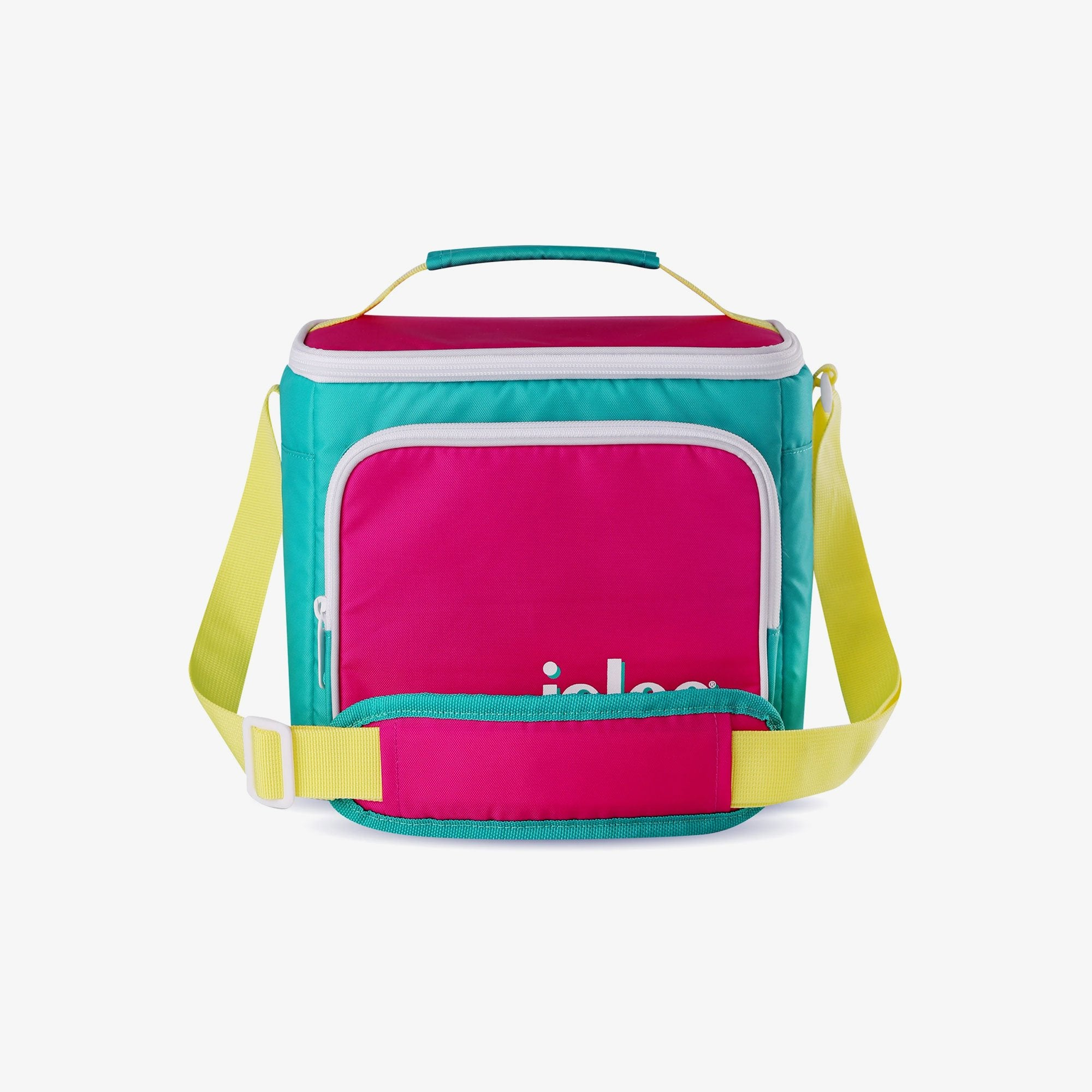 Large View | Retro Square Lunch Bag::Jade