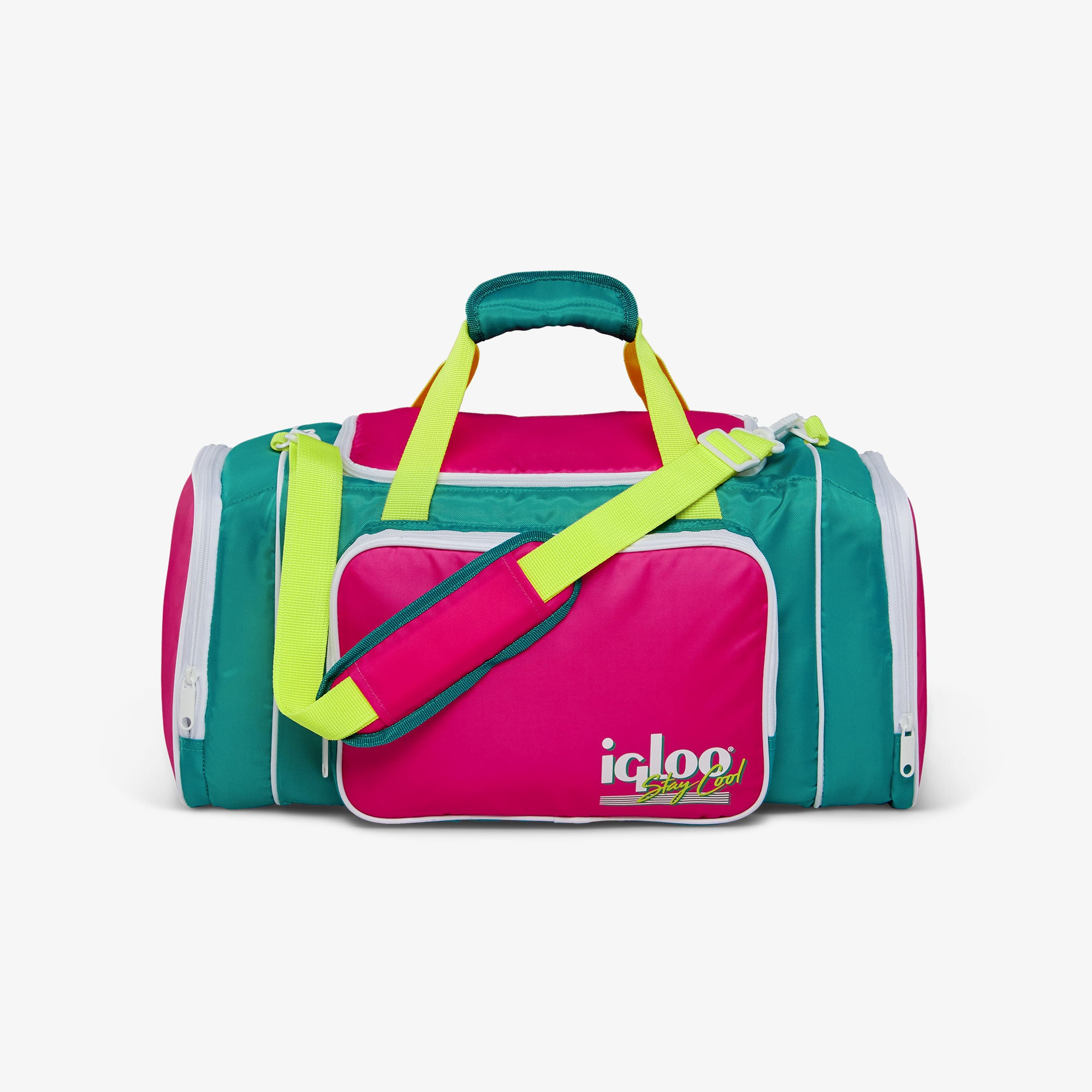 Front View | Retro Duffel Bag Cooler