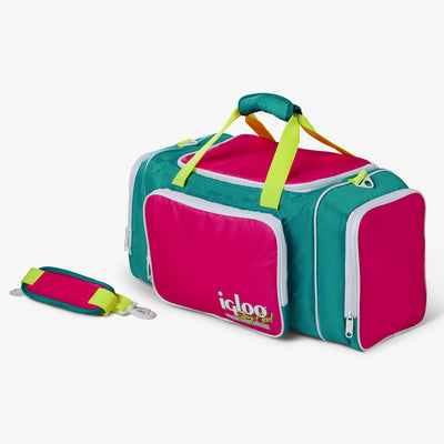 Angle View | Retro Duffel Bag Cooler
