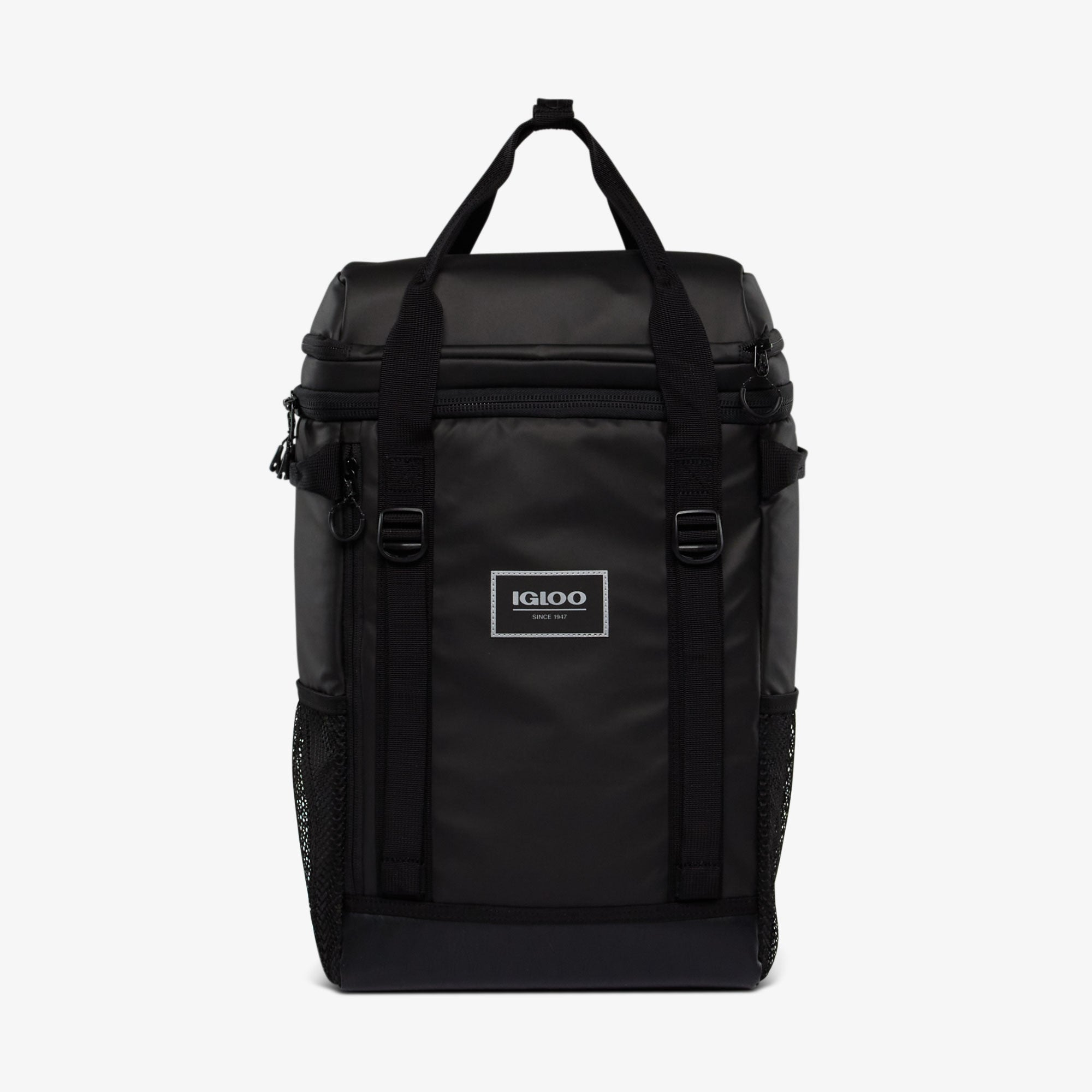Front View | Pursuit 24-Can Backpack::Black