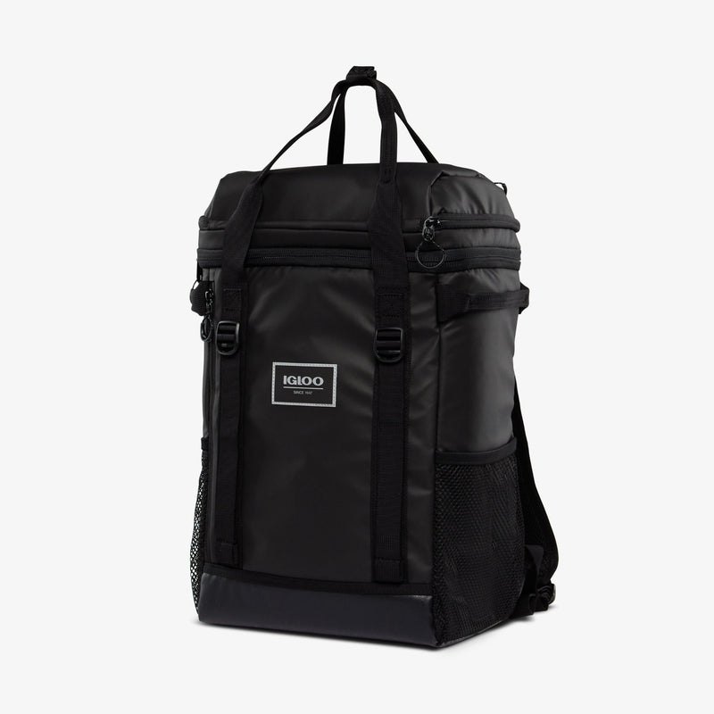 Angle View | Pursuit 24-Can Backpack::Black