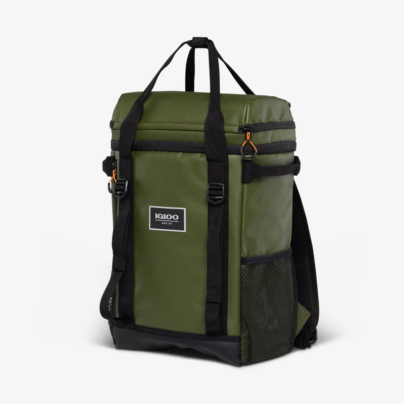 Angle View | Pursuit 24-Can Backpack::Chive