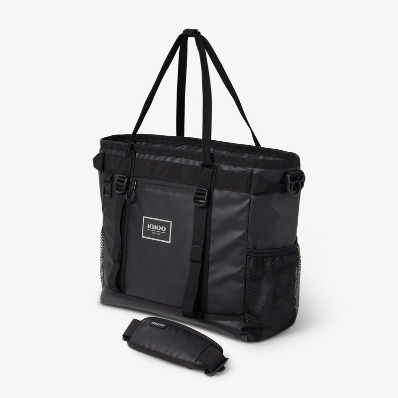 Front View | Pursuit 30-Can Tote::Black