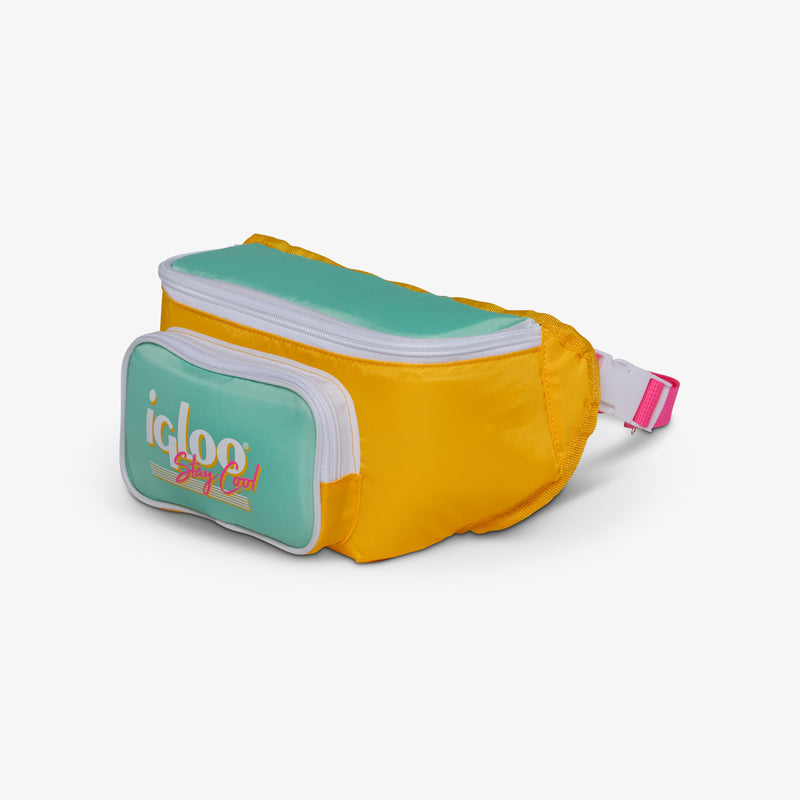 Angle View | Retro Fanny Pack::Yellow