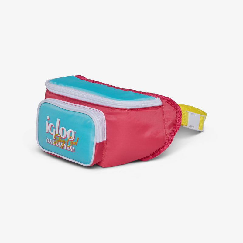 Angle View | Retro Fanny Pack::Watermelon