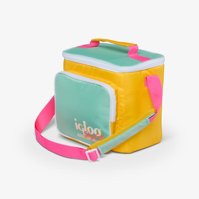 Angle View | Retro Square Lunch Bag