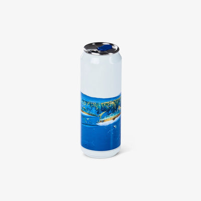 Back View | Amadeo Bachar Paddy Yellowtail 16 Oz Stainless Steel Can Tumbler