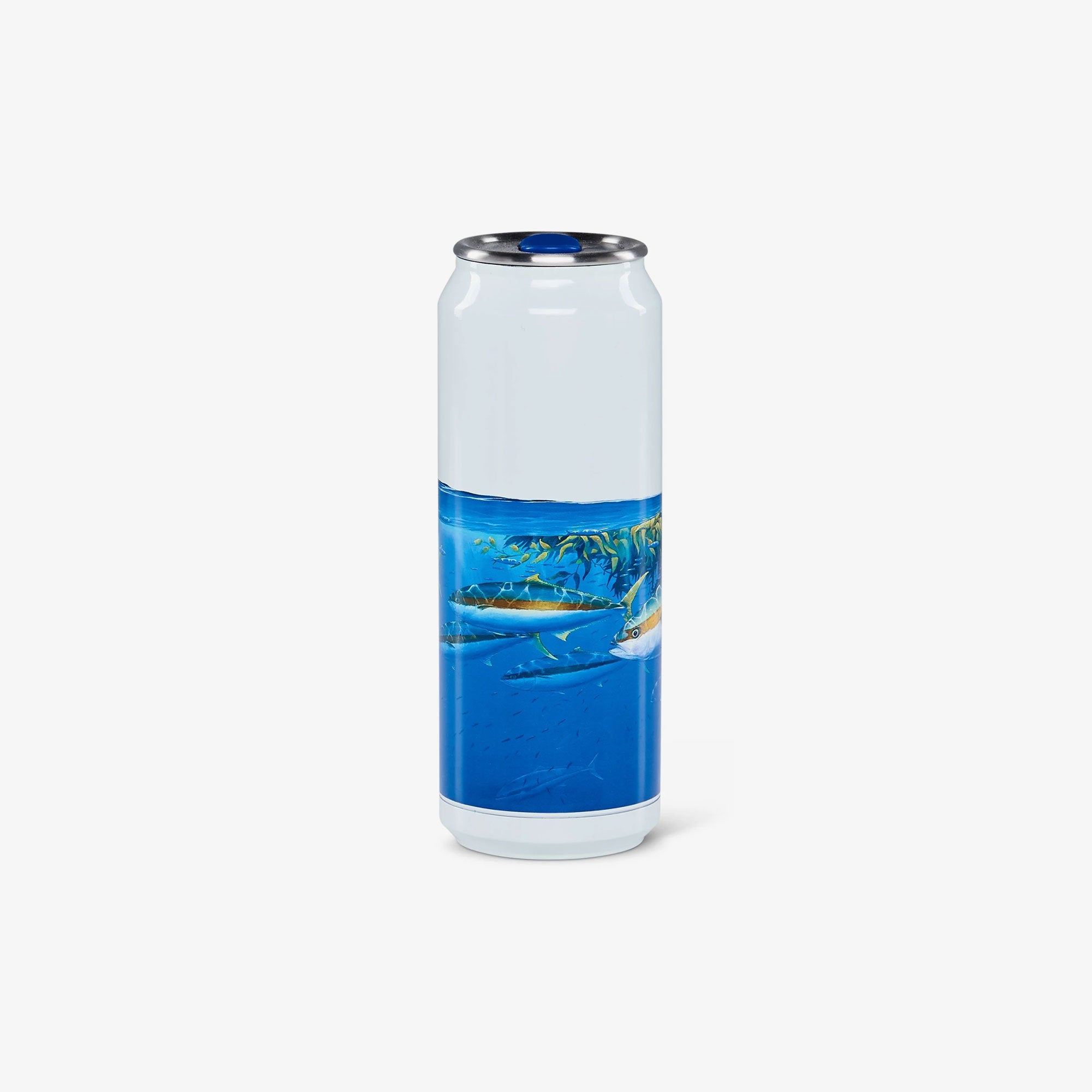 Large View | Amadeo Bachar Paddy Yellowtail 16 Oz Stainless Steel Can Tumbler