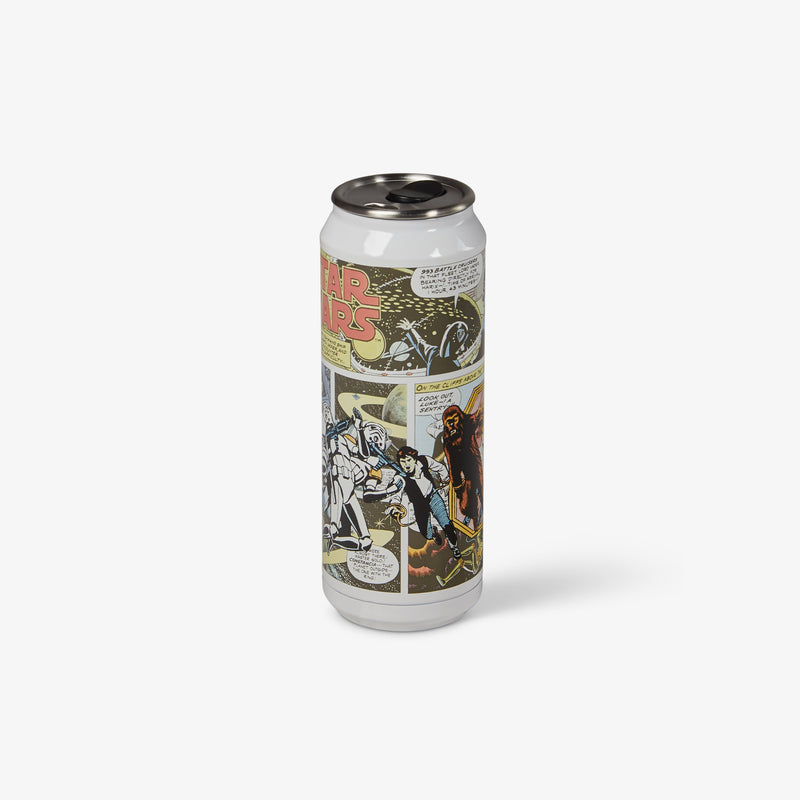 Front View | Star Wars Cosmic Comic 16 Oz Stainless Steel Can Tumbler