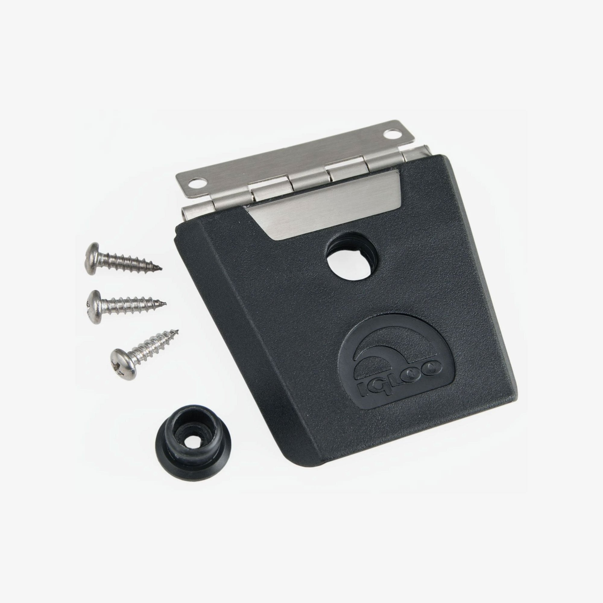 Large View | Hybrid Stainless Steel and Plastic Universal Latch and Button in Black, Stainless Steel at Igloo Accessories