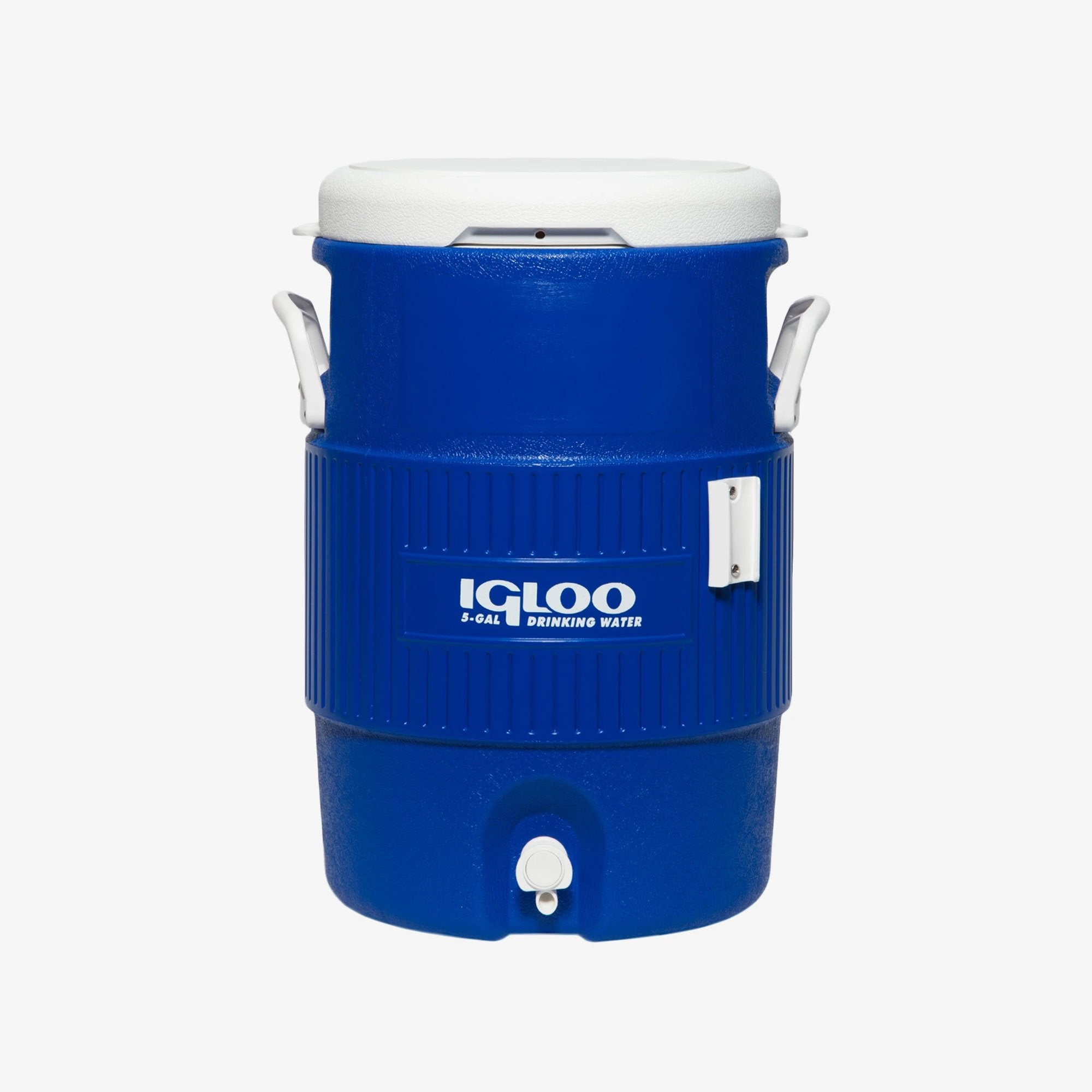 Large View | 5 Gallon Seat Top Water Jug With Cup Dispenser in Majestic Blue at Igloo Hard Side Coolers
