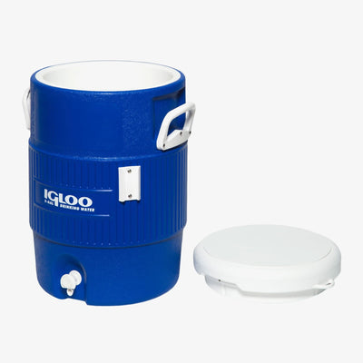 Front View | Igloo 5 Gallon Seat Top Water Jug With Cup Dispenser