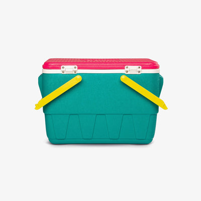Back View | Retro Limited Edition Picnic Basket 25 Qt Cooler