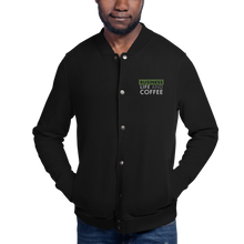 Load image into Gallery viewer, Business, Life, and Coffee Embroidered Champion Bomber Jacket