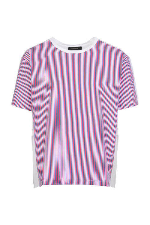 View | Top | Coral White Navy Stripe