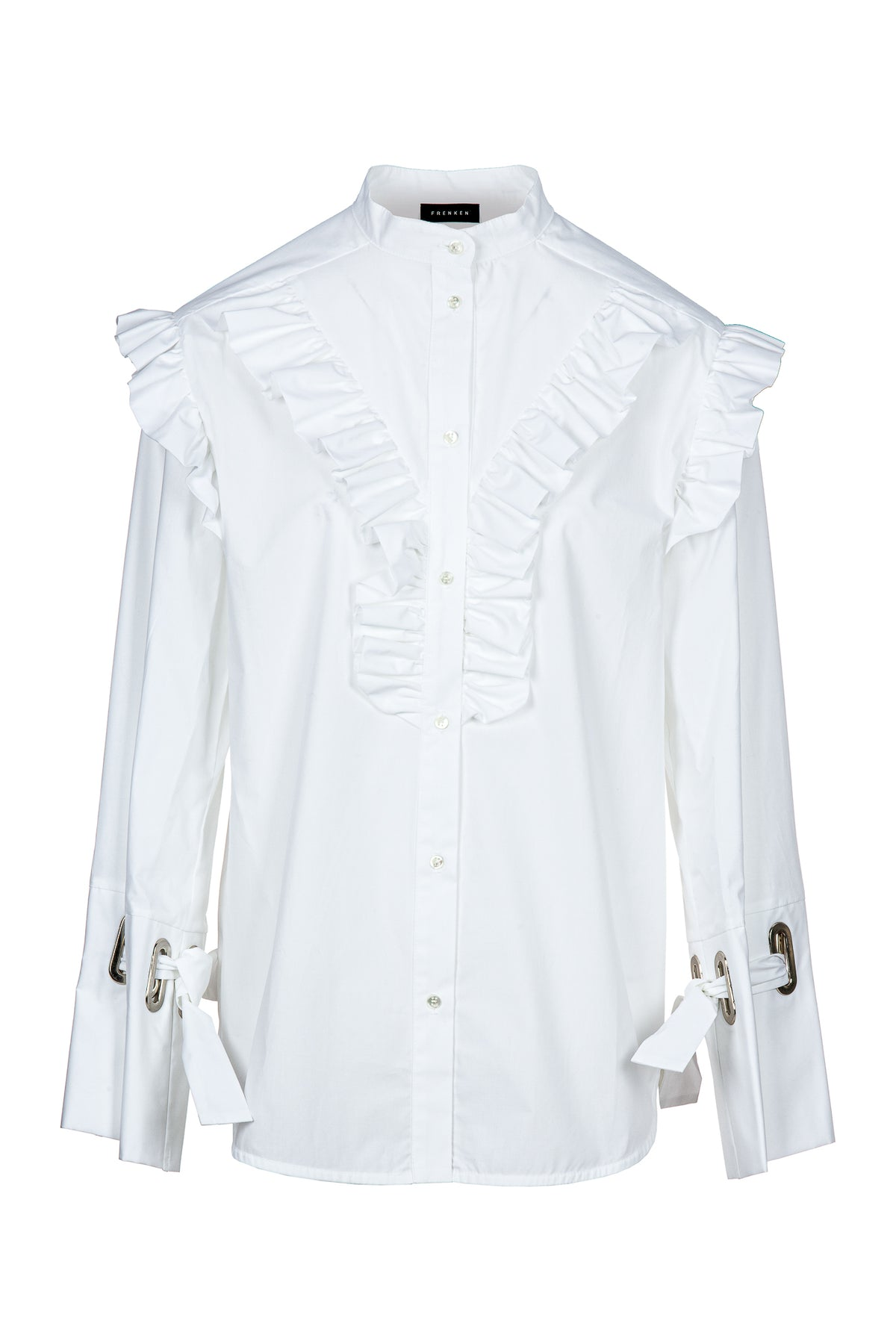 Ruffled | Shirt | White