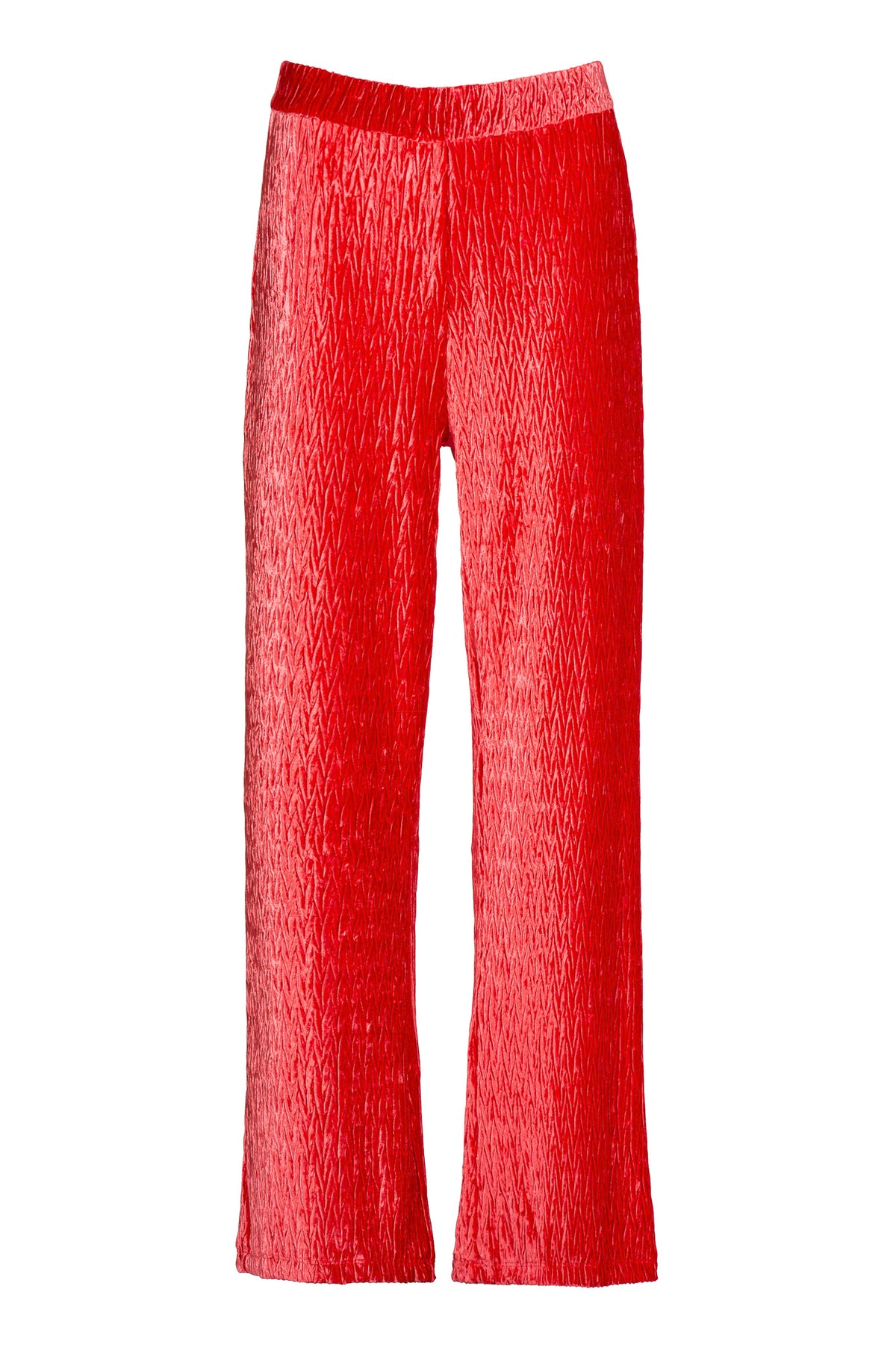 Plisse | Pants | Fire Red
