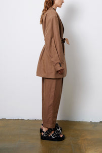 Train | Trouser | Choco Check