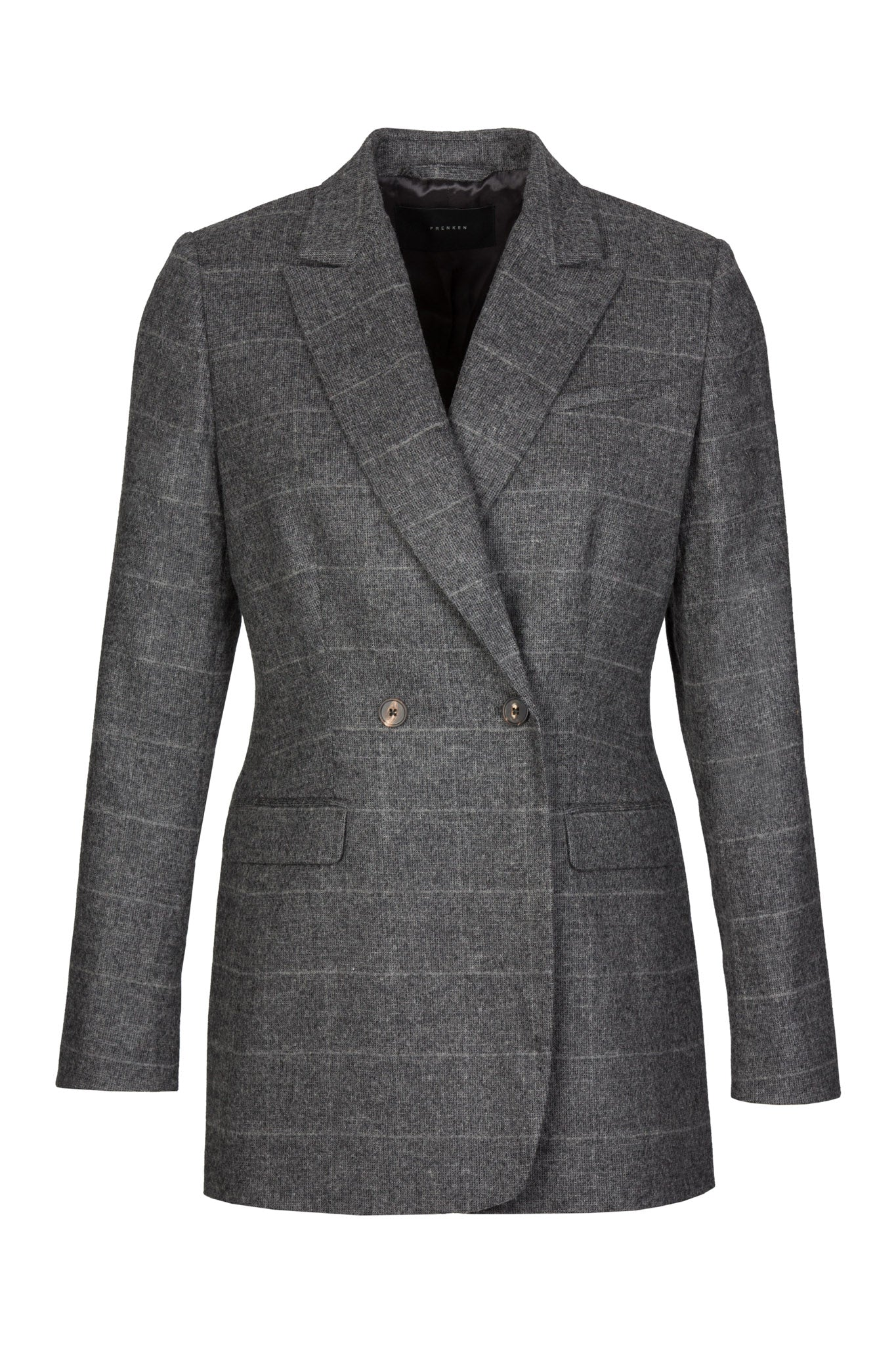 Double Button | Blazer | Grey Melange