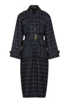 AVECTION | COAT | NAVY CHECK