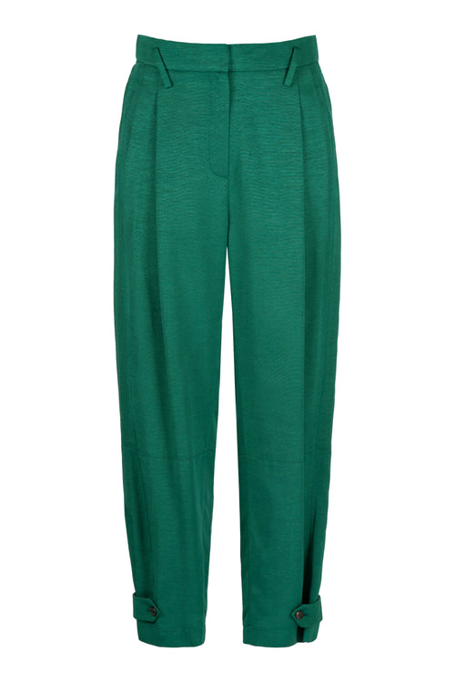 Crop | Trouser | Green