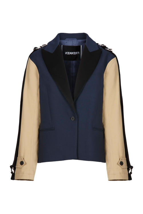 Cord | Coat | Navy Beige