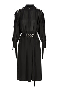 Course | Dress | Black. Cut from the finest crepe the chine silk, Course is a shirt dress. For a sense of ease, this style has pockets at the side seam. frenkenfashion.com