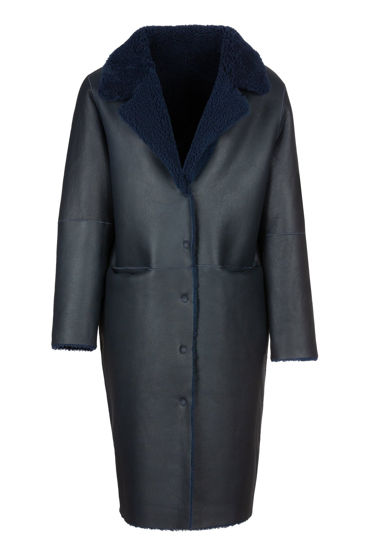 Scene | Coat | Bright Navy