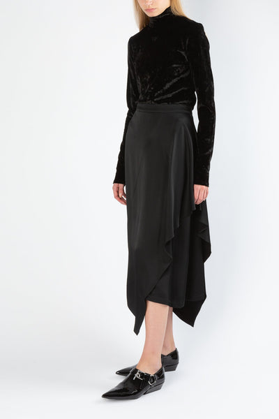 Flapped | Skirt | Black