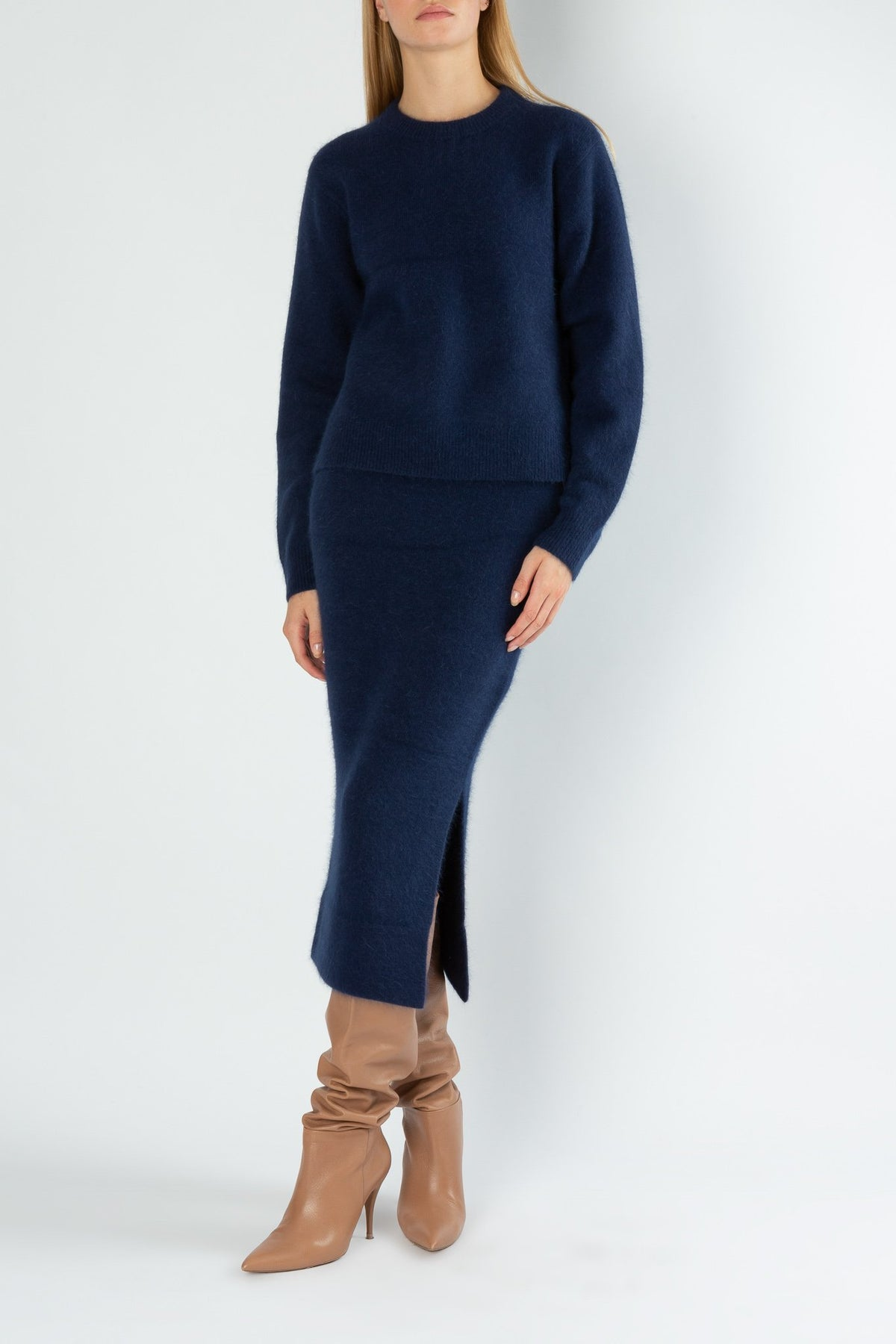 Present | Knitted Top | Navy
