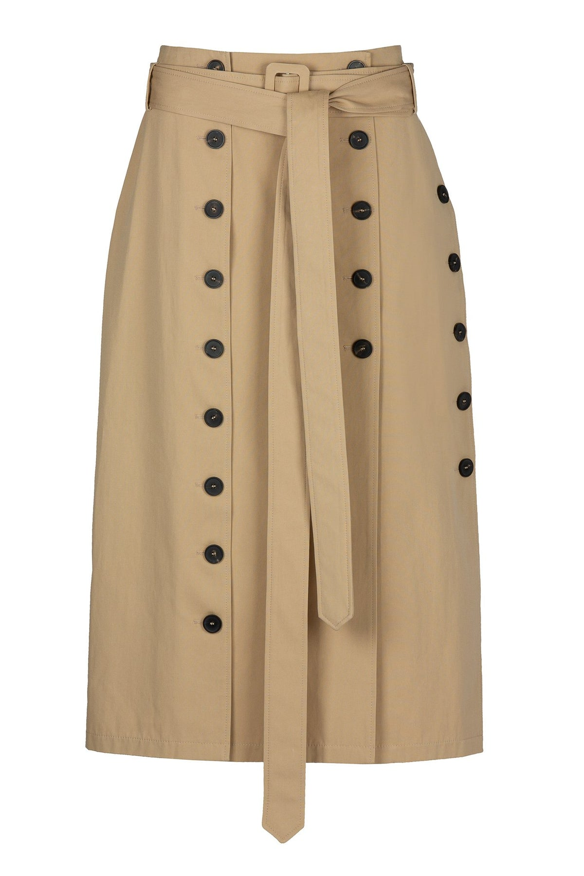 Panelled | Skirt | Camel