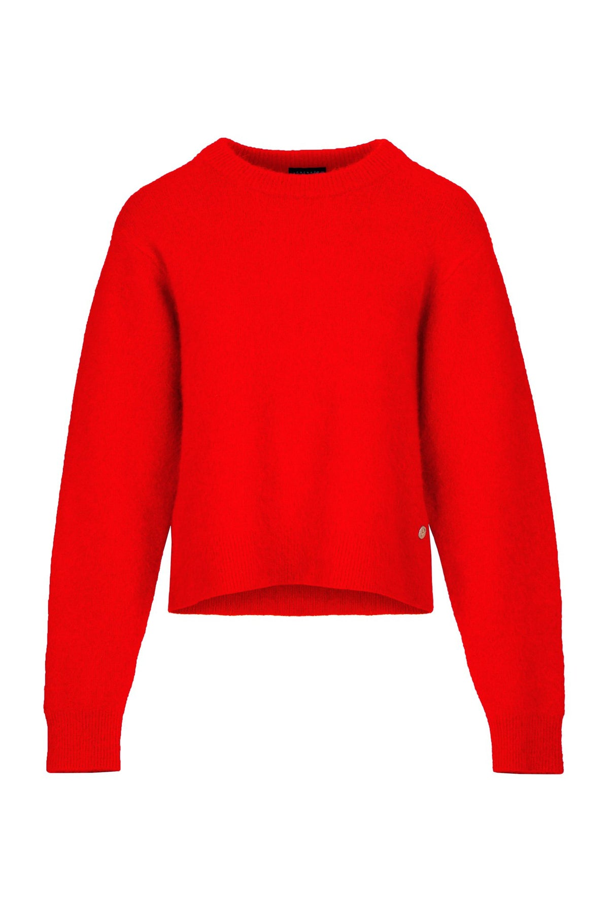 Present | Knitted Top | Fire Red