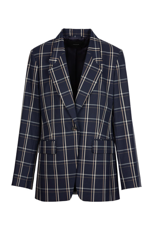 Driving Check | Blazer | Navy Check