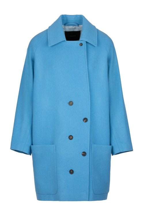 Timed | Coat | Silver Blue