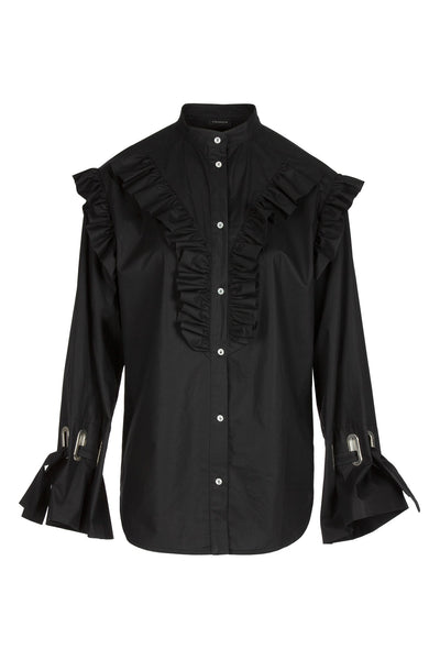 Ruffled | Shirt | Black