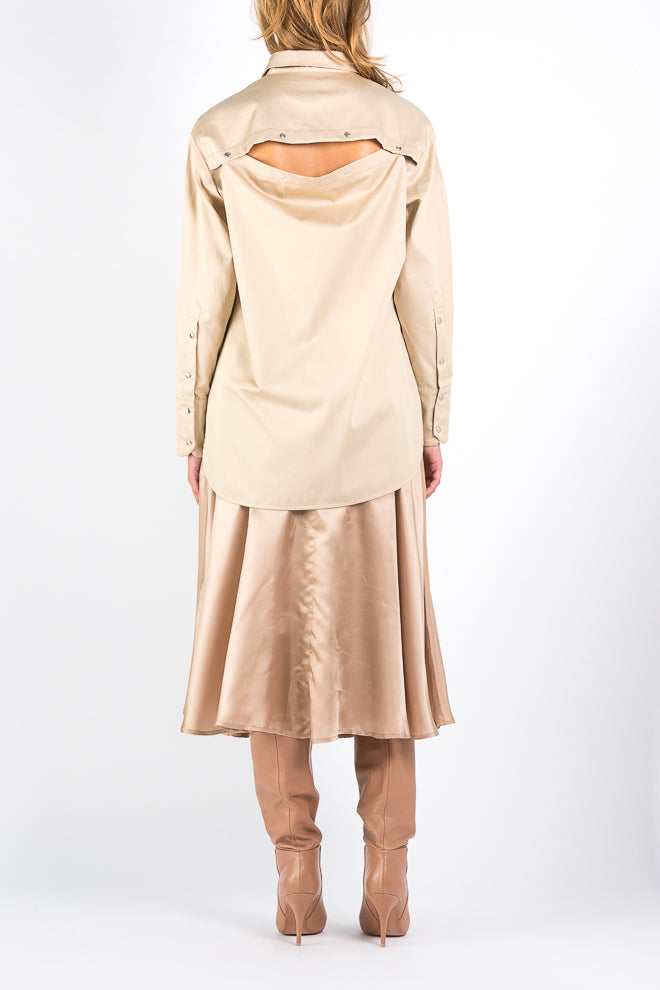 Button Off | Skirt | Camel. Fabric: 100% Cotton. FRENKEN fashion