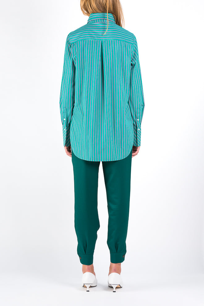 Screen | Shirt | Green Navy Stripe