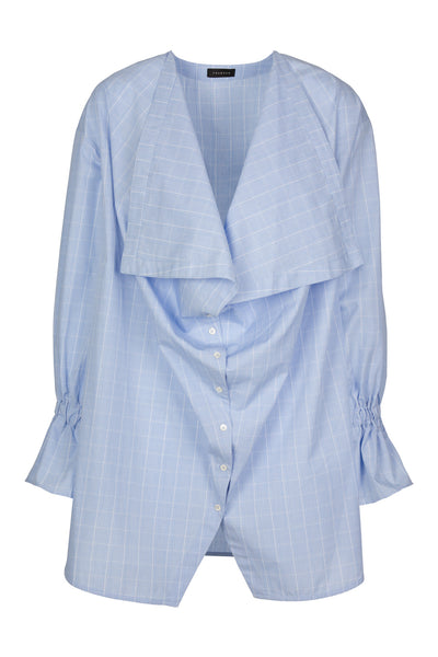 Bow | Shirt | Check Light Blue