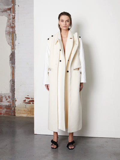 PIECE | COAT | OFF-WHITE