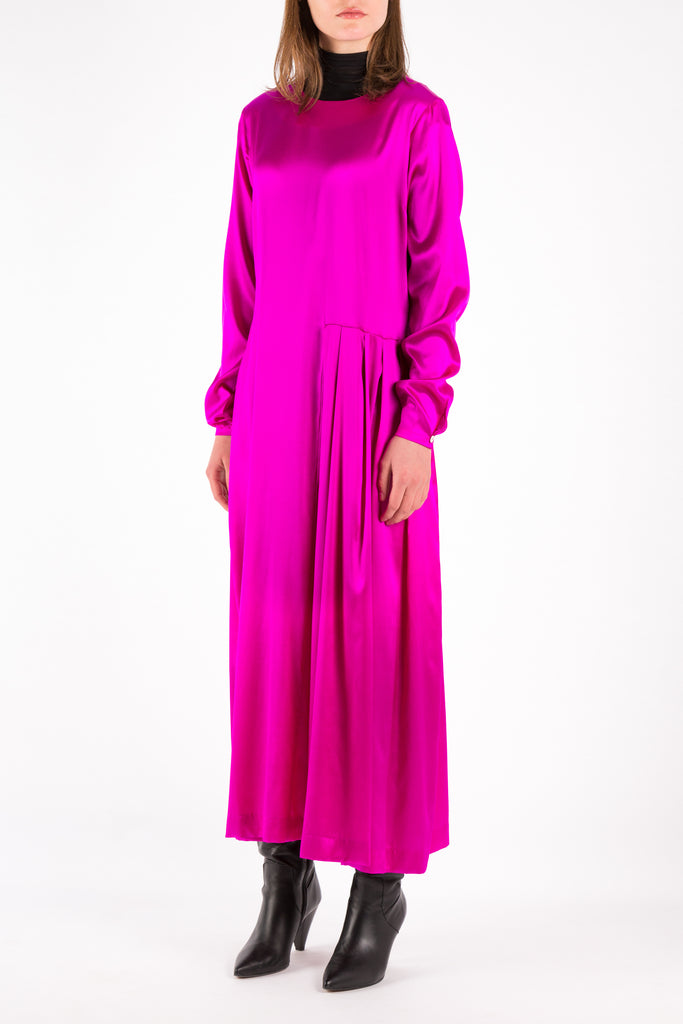 Pleat | Dress | Fuchsia