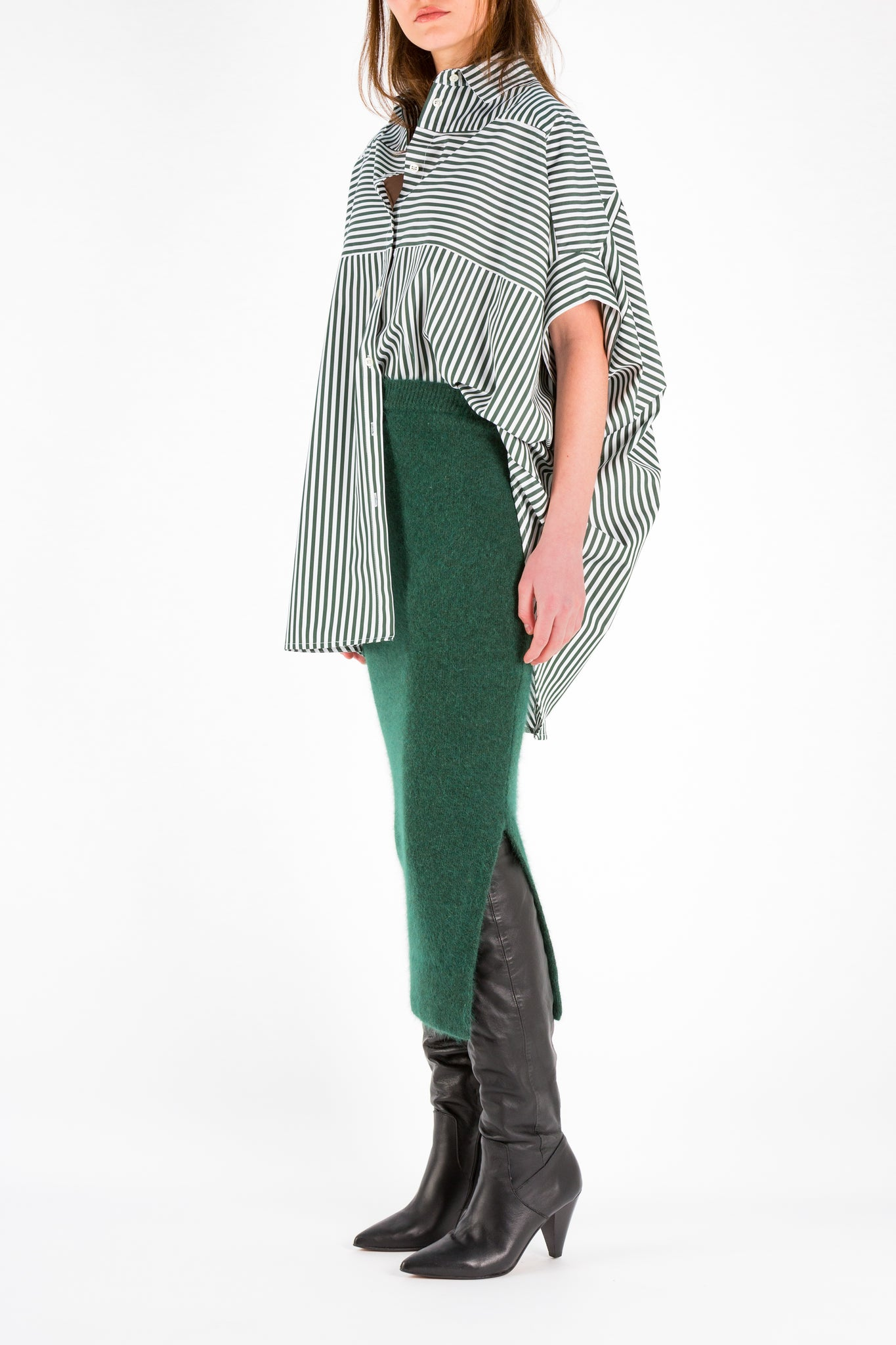 Refer | Shirt | Green Stripe