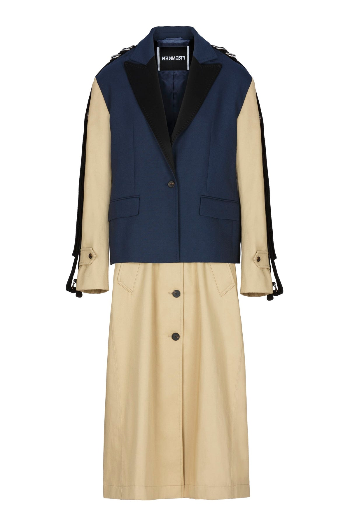Strap | Coat | Navy Beige