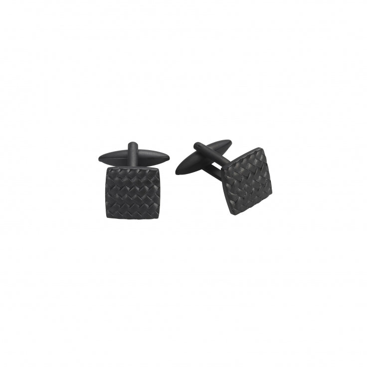 Cudworth Black Tyre Pattern Cufflinks