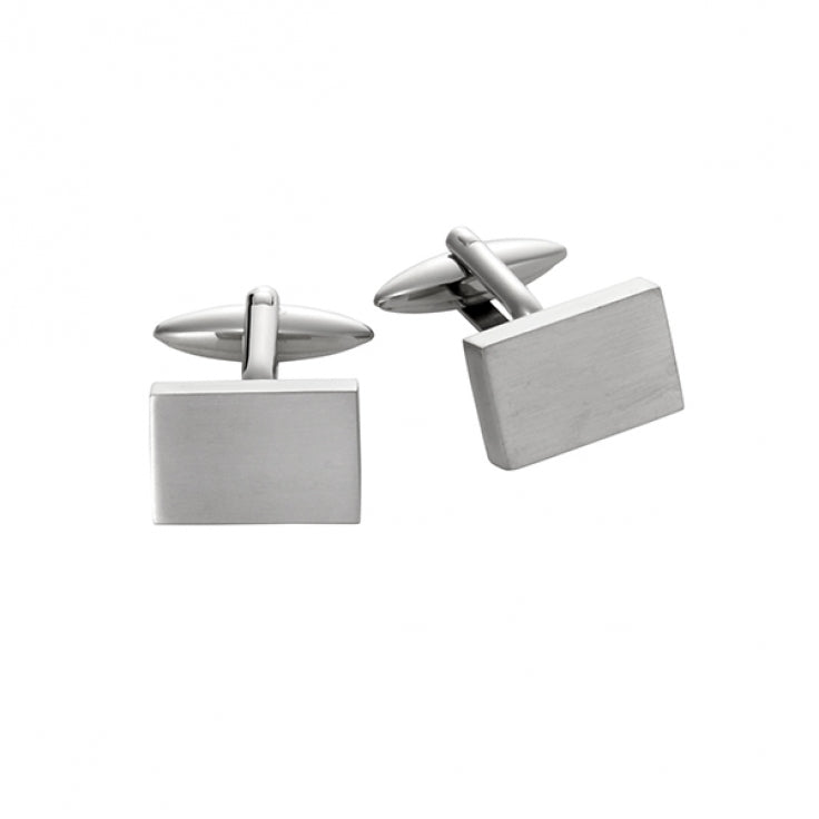 Cudworth Brushed Stainless Steel Cufflinks