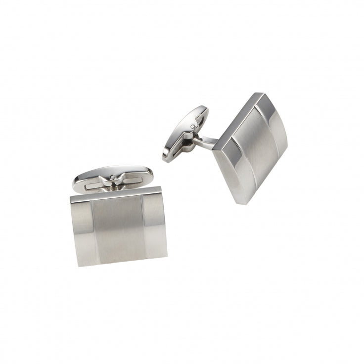 Cudworth Brushed/Polished Stainless Steel Cufflinks