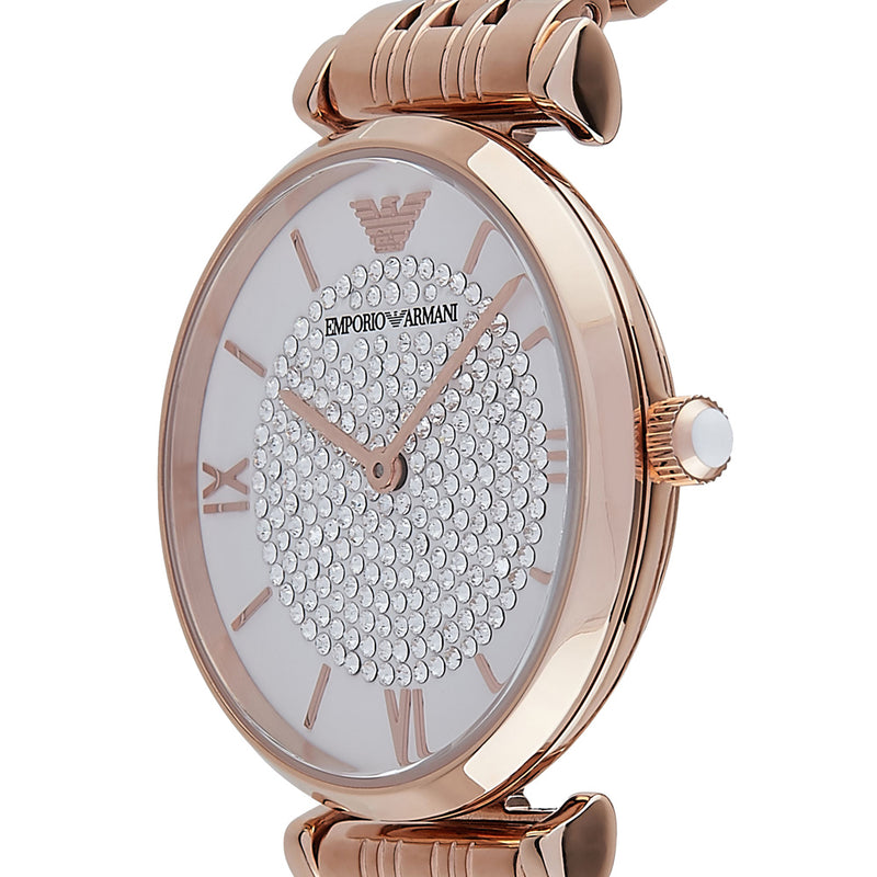 Emporio Armani Rose Gold-Tone Analogue Watch