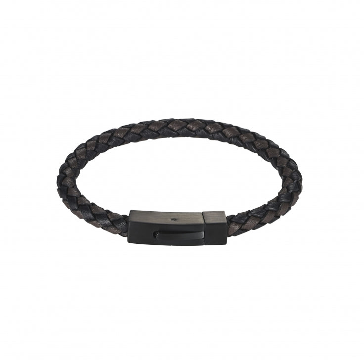 Cudworth Plaited Italian Leather Bracelet