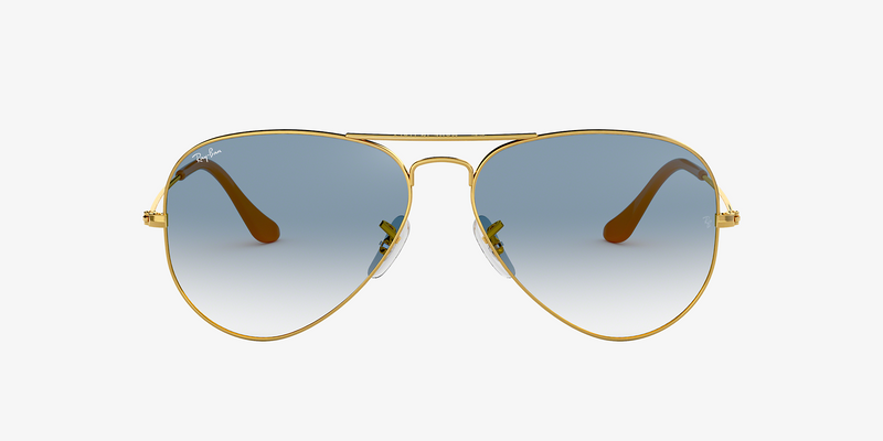 Ray-Ban Aviator Gradient Gold/Blue