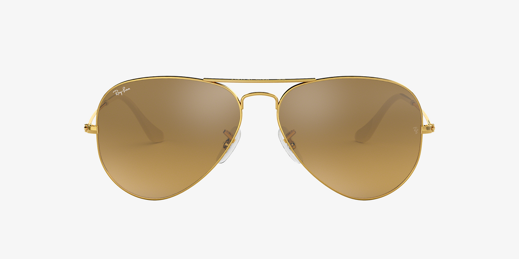 Ray-Ban Aviator Gradient Gold/Brown Silver
