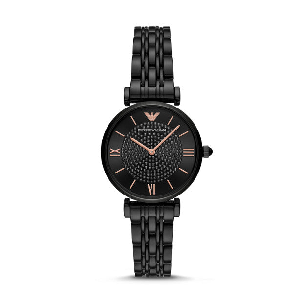 Emporio Armani Stainless Steel Two-Hand Watch
